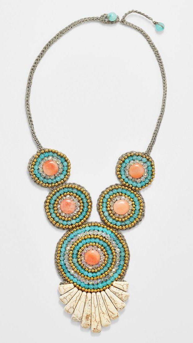 Panacea Multi Crystal Beaded Necklace