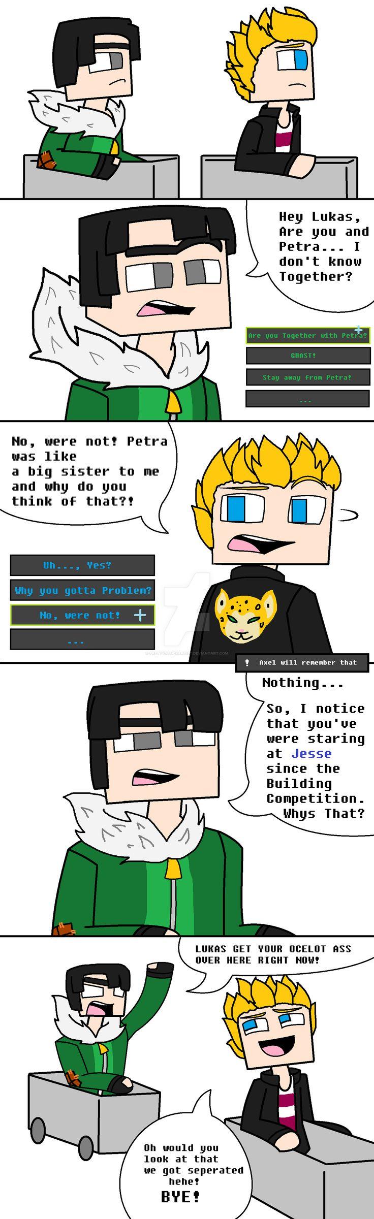 Minecraft Story Mode: Lukas and Axel by PrettyXTheXArtist.deviantart.com on @DeviantArt