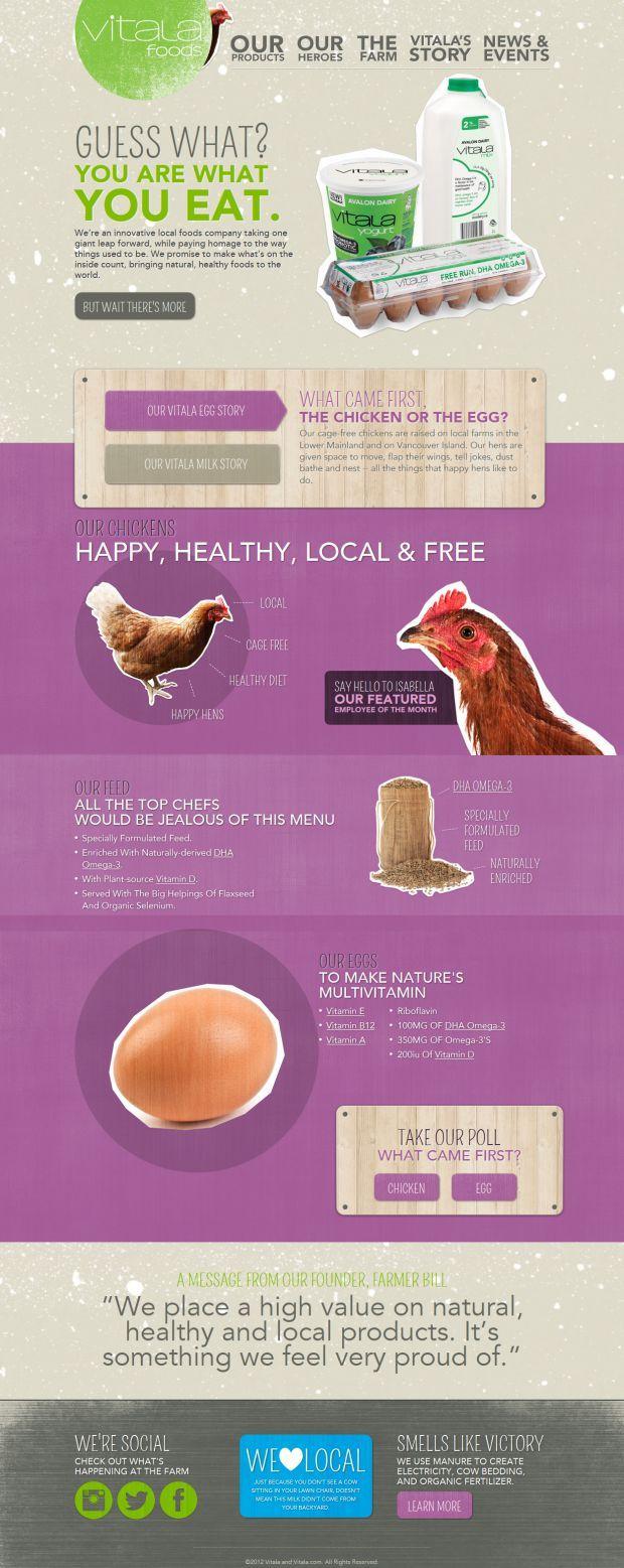 Vitala Foods - innovative local foods company - Best website, web design inspiration showcase