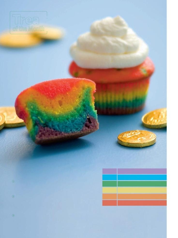 rainbow cup cakes