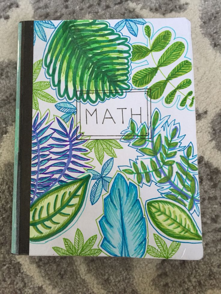 Diy leaf notebook for back to school! Super colorful, cute, and creative. Make your own with a composition notebook, 2 pieces of printer paper, mod podge, a sponge brush, and markers! Have fun, and be creative!!