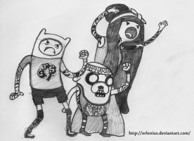 Adventure Time, Chicago Style. by Orlenius