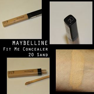 MichelaIsMyName: MAYBELLINE Fit Me Concealer 20 Sand REVIEW