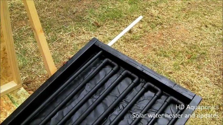 HD Aquaponics - Ep.19 - Solar hot water heater, floating raft dwc lettuce, tilapia