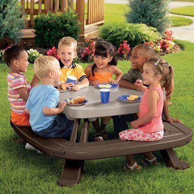 Nice Bundle 58 Kidsu0027 Fold N Store Picnic Table (2 Pieces)