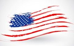 Charming American Flag Background Wallpaper