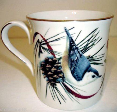 The 45 best winter greetings images on pinterest porcelain lenox winter greetings nuthatch mug bird ribbon motif new m4hsunfo
