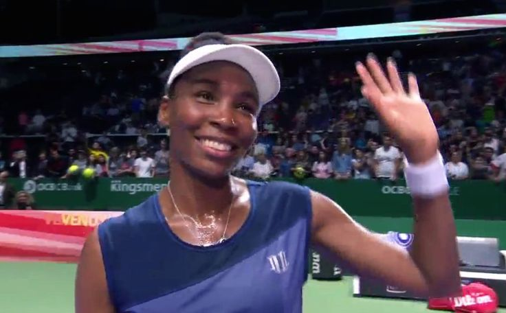 Venus Williams eliminates Wimbledon Champion Garbine Muguruza in straight sets to advance to the SFs in Singapore for the 5th time: http://www.telegraph.co.uk/tennis/2017/10/26/venus-williams-vs-garbine-muguruza-wta-finals-live-score-updates/ #WTAFinals #WhiteGroup #RR3