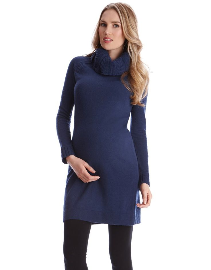 Soft cashmere blend Roll neck Zip nursing access Above the knee Long sleeves Crafted in a beautiful blend of soft cashmere, springy lamb's wool and natural cotton; our Roll Neck Maternity & Nursing Dress will add a touch of luxe to your winter style. The on-trend roll neck design will keep you cosy through the winter months, while discreet zip nursing access allows you to feed your baby on-the-go. Style this essential knitted maternity dress with our Faux Leather Panel Leggin...