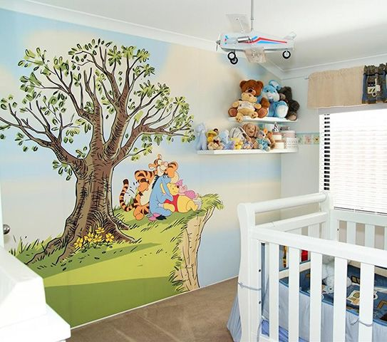 Winnie the pooh Moments like this full wall mural 3600mm