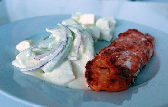 Allt om LCHF.nu: BBQ-lax med krämig avokadosallad