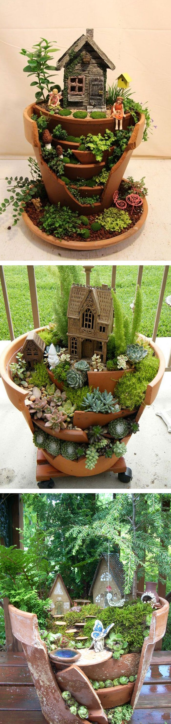 Fairy pots // garden art // DIY fairy gardens