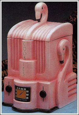 Flamingo #Radio Cookie Jar ............ fred6ty7.com .............