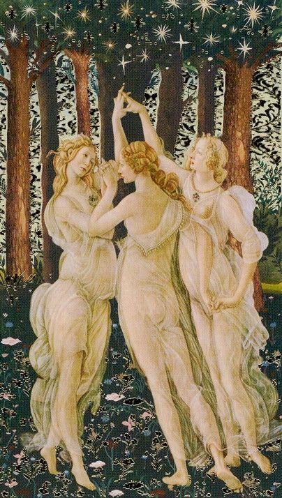 XVII. The Star: Golden Botticelli Tarot