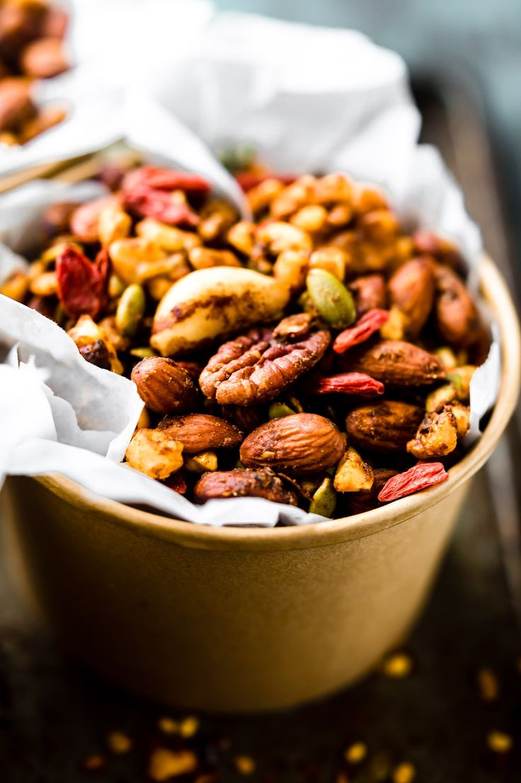 This THAI CURRY SPICED SLOW COOKER snack mix is the perfect salty sweet gluten-free snack that's packed with flavor and superfood nutrition! Something easy to make that's healthy and great for snacks, appetizers, and on the go! #paleo #vegan #slowcooker