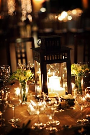 Lantern centerpiece - I want soft lighting and would love all lanterns.