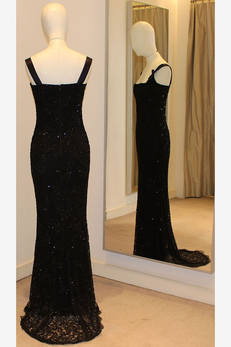 Princess Diana's black beaded 36th birthday dress.