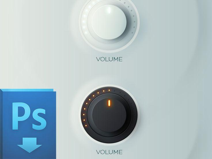 Knobs Free PSD #bouton # button
