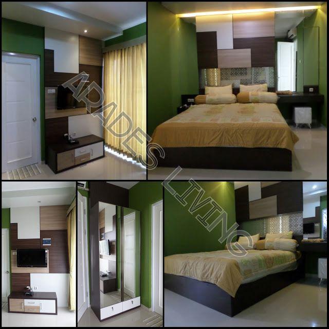 ARADES LIVING - FURNITURE & INTERIOR: Interior Kamar Tidur Utama Rumah Tinggal di Metlan...