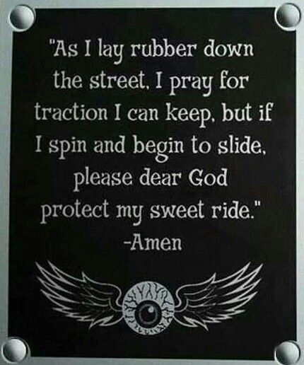 HARLEY DAVIDSON prayer
