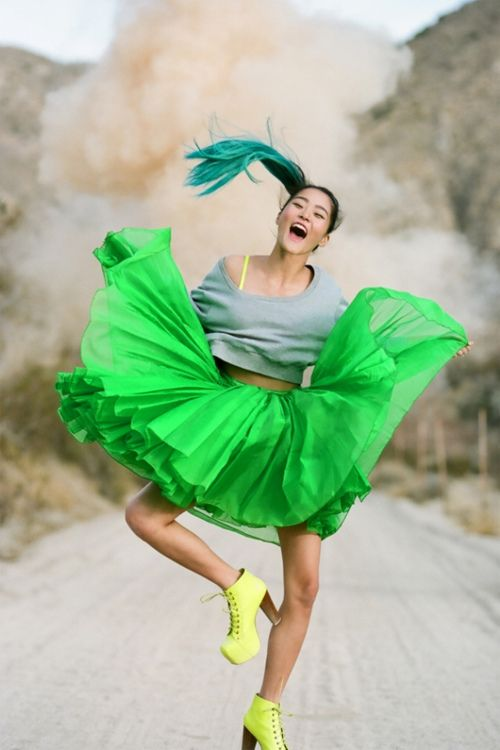 :-)    ✿: Fashion, Happy Dance, Skirts, Neon Green, Mink Pink, 90S Style, Neon Colors, Nastyg Minkpink, Nasty Gal