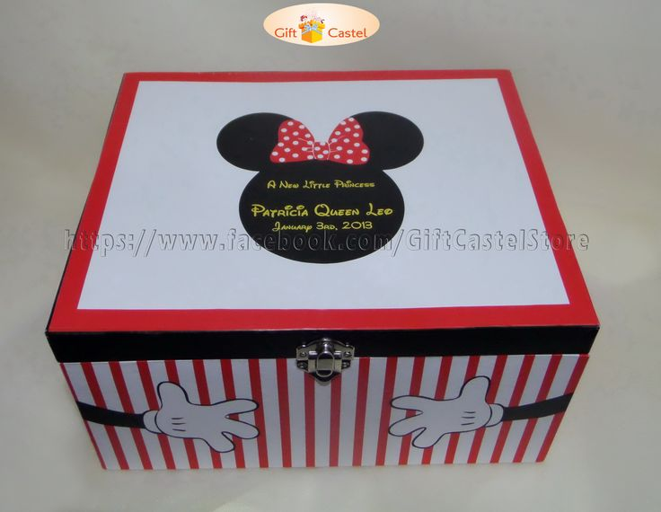 Minnie Treasure Box.. Material: Hard Carton Length: 24cm Wide: 20cm Height: 12cm  visit www.facebook.com/GiftCastelStore