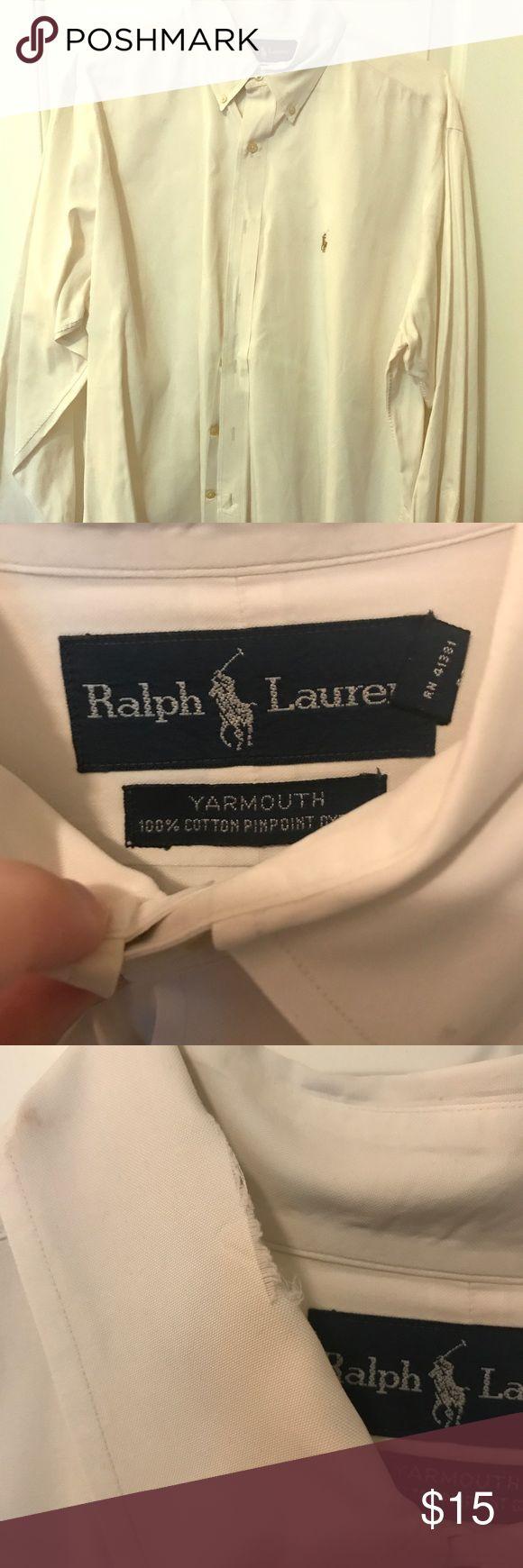 Ralph Lauren dress shirt White, button down collar. Slight fraying on collar Ralph Lauren Shirts Dress Shirts