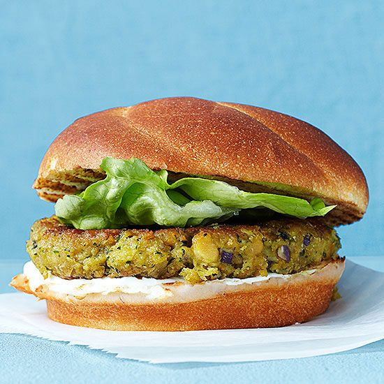 Chickpea Burgers with Tomatoes