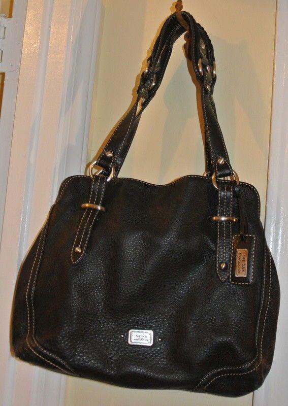 The Sak Pebbled Black Leather 3 Compartment M 2 Strap Satchel Shoulder  Handbag  TheSak   34e11ade09