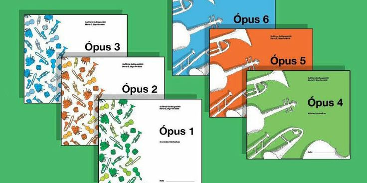 ÓPUS music theory textbooks 1–6 are music theory books, intended for children eight years and older. The Opus 1-6 are  suitable for primary schools, music schools and also for private study.