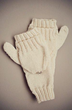Convertible Mitten Knitting Pattern : Mittens, Convertible and Mittens pattern on Pinterest