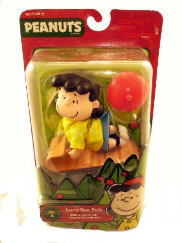 Peanuts Charlie Brown Christmas Lucy on a Toboggan