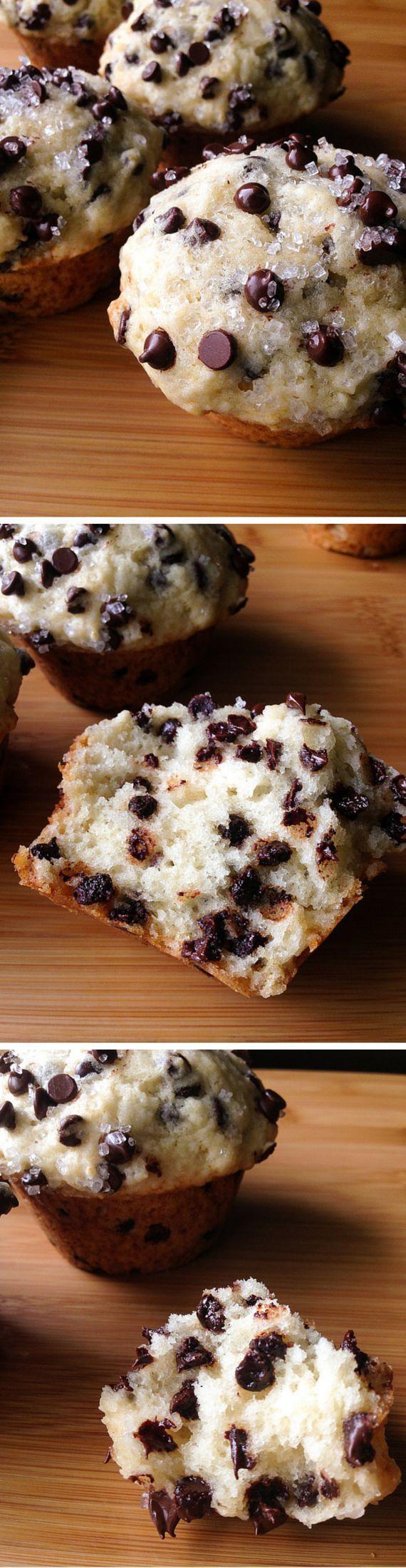 bakery style chocolate chip muffins chocolate chip muffins chocolate ...