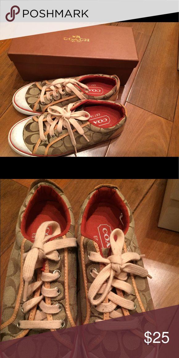 Coach Tennis Shoes Cute Coach Tennis Shoes in Coach box. Perfect for summer Coach Shoes Sneakers