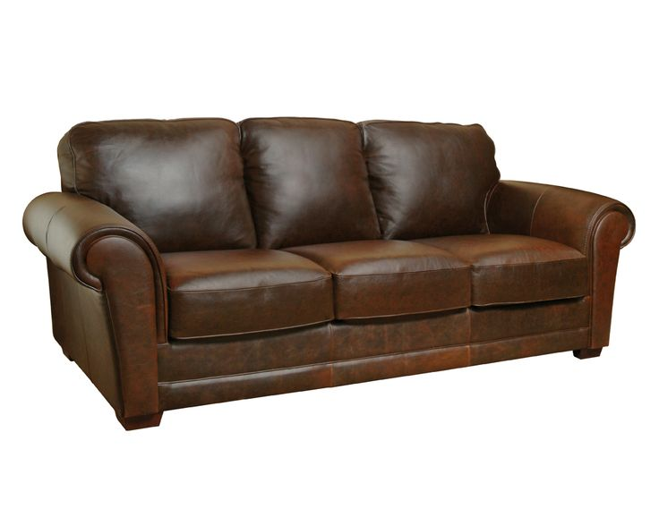 The Mark Sofa From Luke Leather Is Fantastic In Whiskey