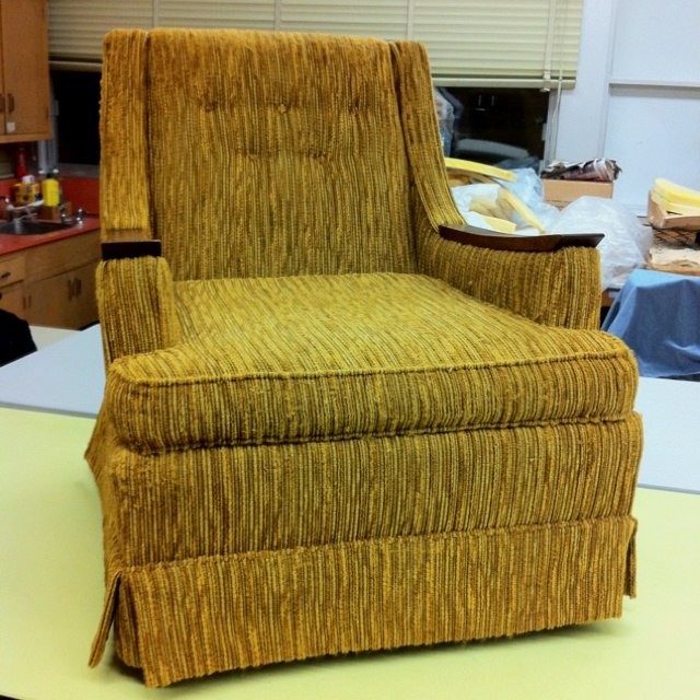 A Very Ugly Recline In Dire Need Of Some Custom Upholstery