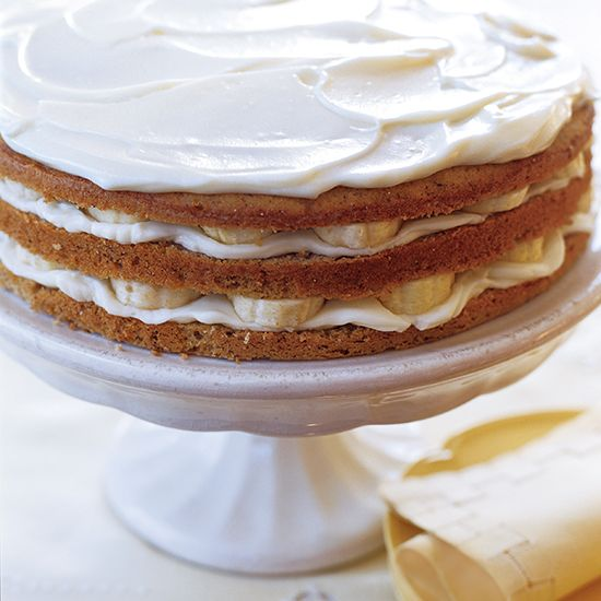 Banana Layer Cake with Mascarpone Frosting | Recipe ...