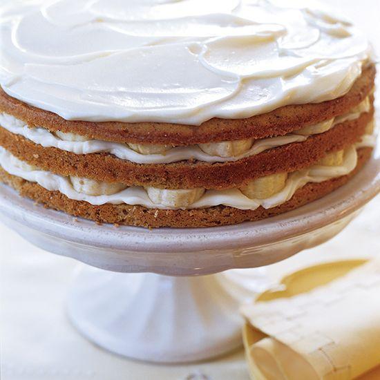 Banana Layer Cake with Mascarpone Frosting | Recipe ...