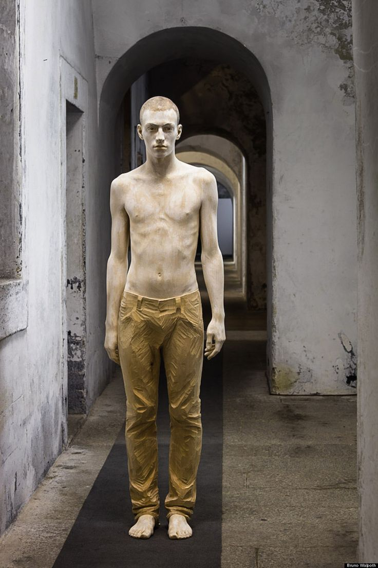 Bruno Walpoth can practically turn wood into flesh.  The Italian artist has a knack for creating haunting, incredibly lifelike sculptures hewn out of wood. His works somehow manage to capture the expressiveness in a person's eyes and the body's fleshy curves.
