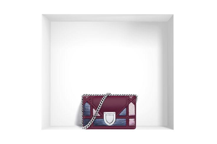 Diorama bags protagoniste delle borse Dior 2016 Dior baby Diorama agnello e paillettes