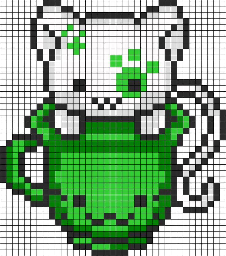 Grid Cat Pixel Art