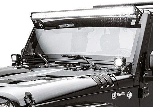 Jeep Accessory - ZROADZ Jeep Wrangler Upper Windshield LED Light Bar Mounting Brackets