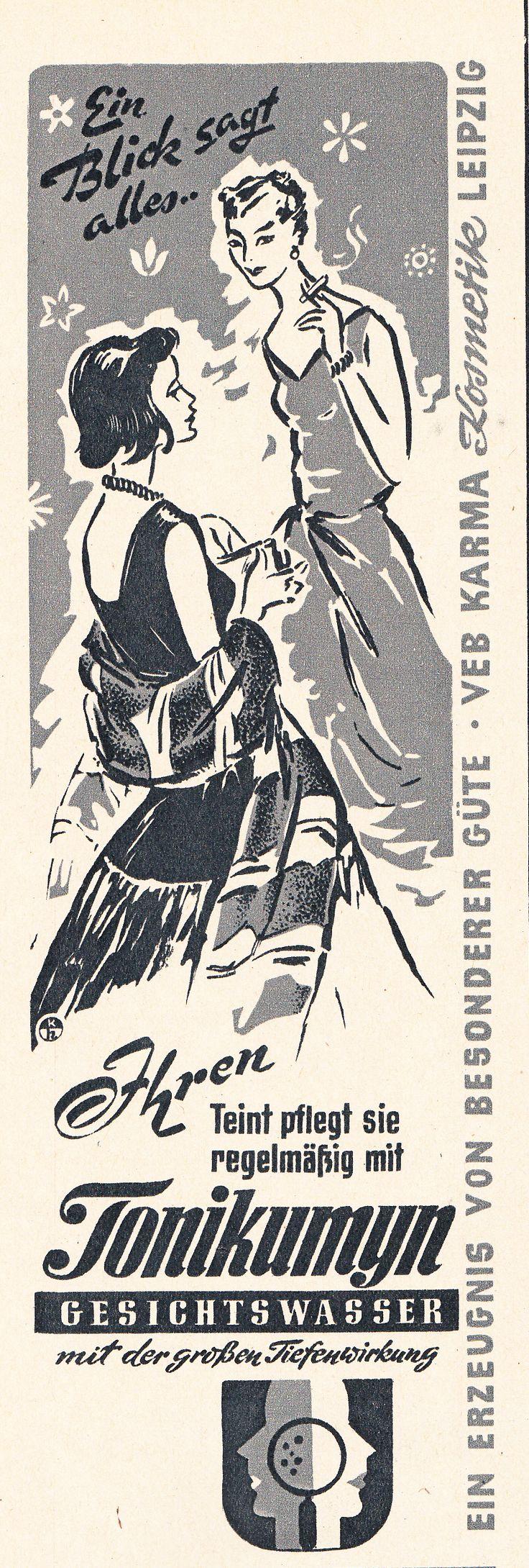 VEB Karma Kosmetik Leipzig, East German Ad, DDR Werbung 1961