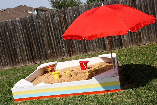 28. This DIY sandbox is prettier than a store-bought version.   39 Coolest Kids Toys You Can Make Yourself