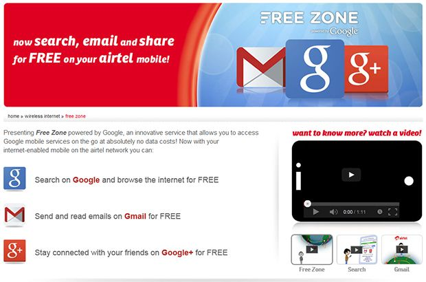 Airtel partners with Google India to launch 'Free Zone'