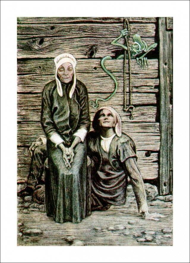 "Henrik Ibsen 'Peer Gynt', ""Peer and Åse"" by Савва Бродский"
