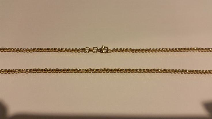 """14K Solid Yellow Gold Chain - 18""""-20"""" long - 2.5mm laser cuted bead 14K Gold Chain"""