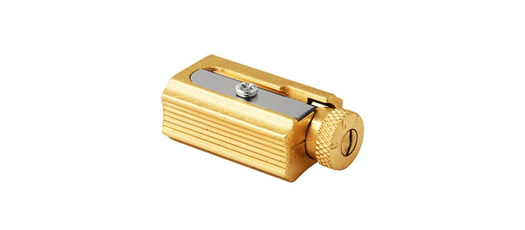 Dux Adjustable Brass Pencil Sharpener: Leather Case, Student Hands