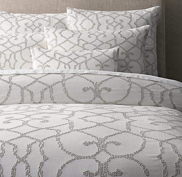 Restoration Hardware knows how to make a classy bed with this textural seed-stitch duvet on ShopStyle!