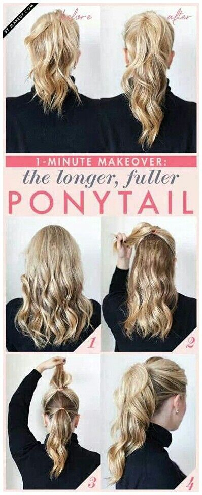 how to make a long ponytail